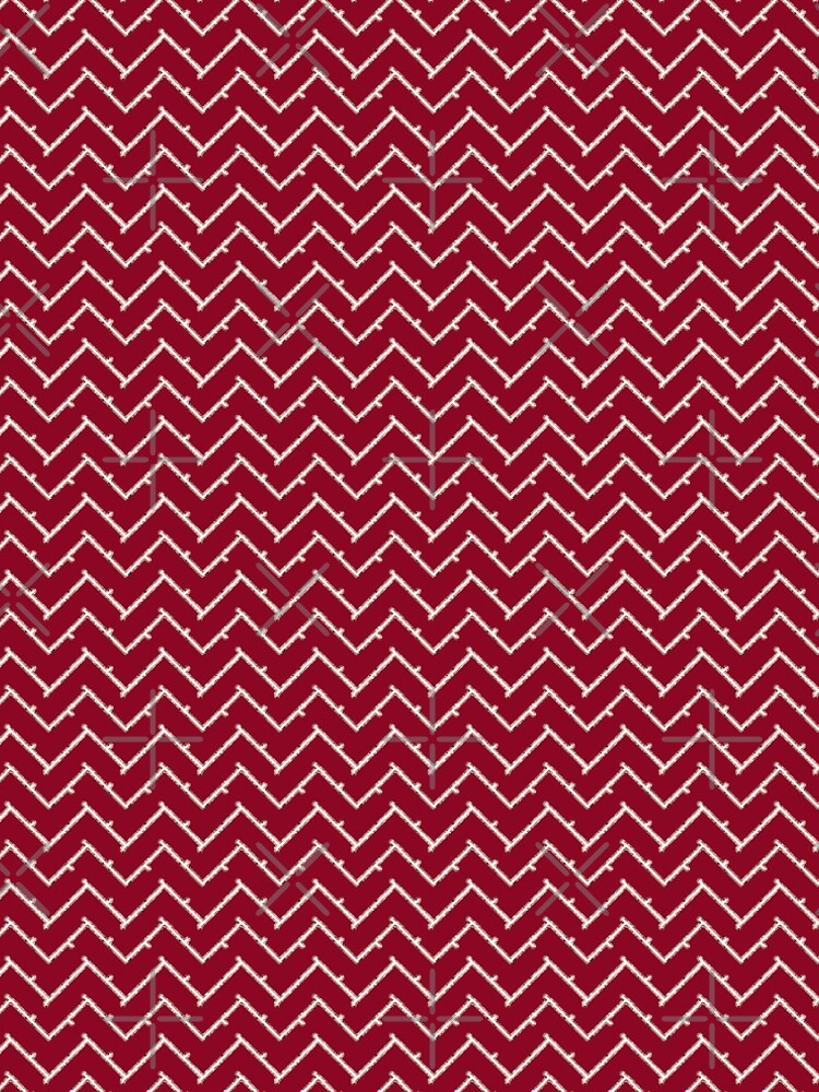 Barbed Chevron | Crimson and White by CollegeTown