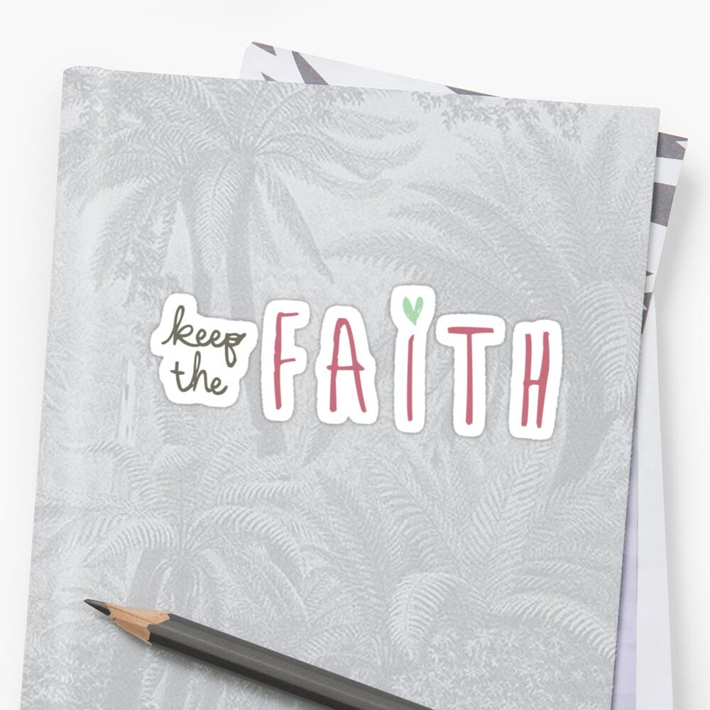 Keep the Faith Christian sticker, tumbler decal, illustrated faith by UncommonFaith