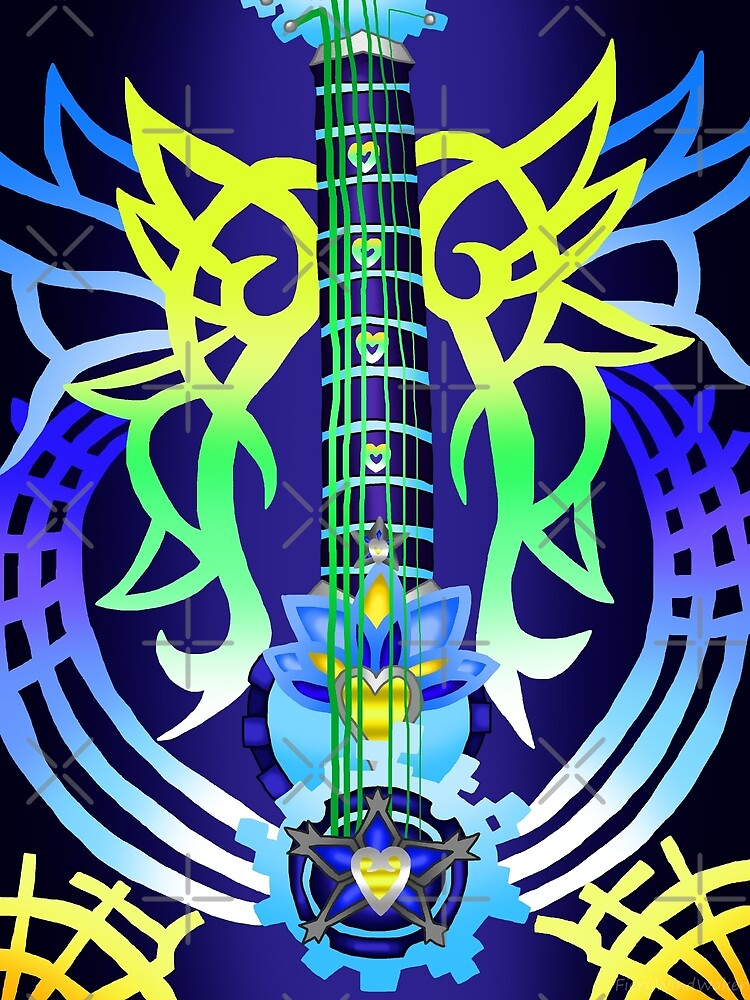 Fusion Keyblade Guitar #200 - Ultima Weapon & Dual Disk by FieryWindWaker