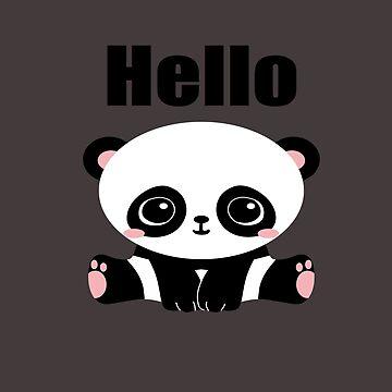 Cute Panda Bear by mochachip