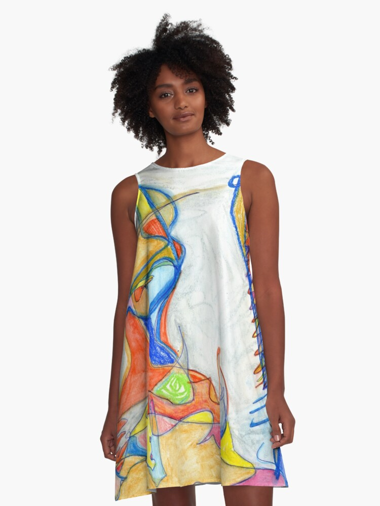 Two faced  A-Line Dress Front