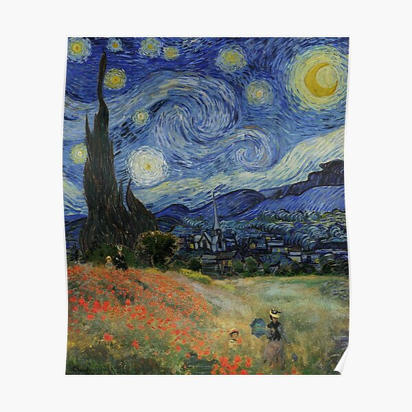 Poster Sternennacht in Prag Bleichner Van Gogh Inspirationen auf de.. - M