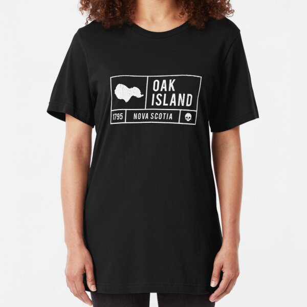 Oak Island Island and Treasure Gift Product - White Slim Fit T-Shirt