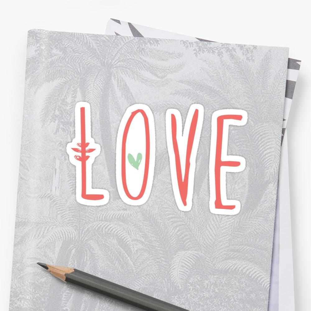 L O V E ... Christian sticker, tumbler decal, illustrated faith by UncommonFaith