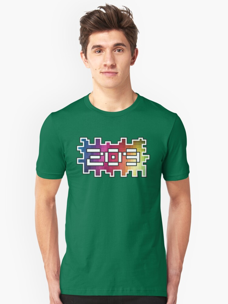 209 PIXEL DESIGN - THE BEST AREA CODE, THE 209, PIXELATED Unisex T-Shirt Front