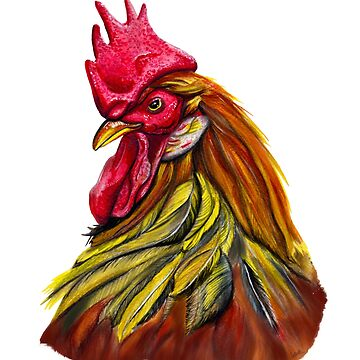 rooster portrait by ilustradsn
