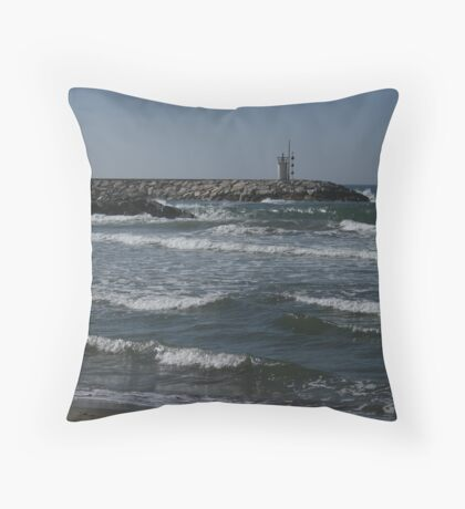 The ripple effect, Puerto Cabopino, Spain Throw Pillow