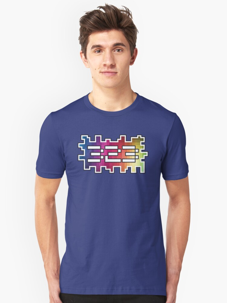 323 PIXEL DESIGN - THE BEST AREA CODE, THE 323, PIXELATED Unisex T-Shirt Front