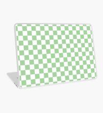 Mint Checkerboard Pattern  Laptop Skin