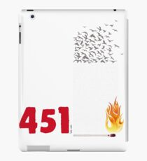 Fahrenheit 451, burning words iPad Case/Skin
