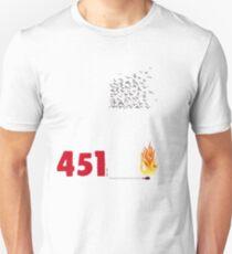Fahrenheit 451, burning words Unisex T-Shirt