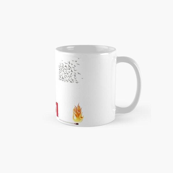 Fahrenheit 451, burning words Classic Mug