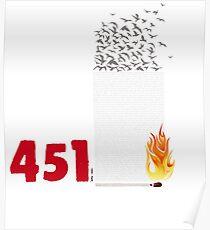 Fahrenheit 451, burning words Poster