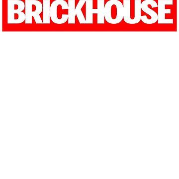 Supreme Parody Brickhouse Bodybuilding Gym T-Shirt by irondiscipline