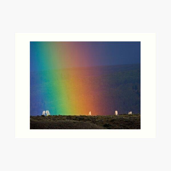 Rainbow Air, Ghost Trees Art Print