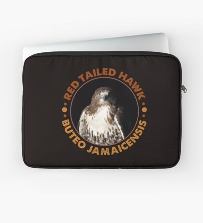 Beautiful Red Tailed Hawk Portrait For Falconers and Birders  Laptop Sleeve