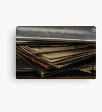 Stack of Records Canvas Print