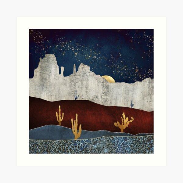 Moonlit Desert Art Print