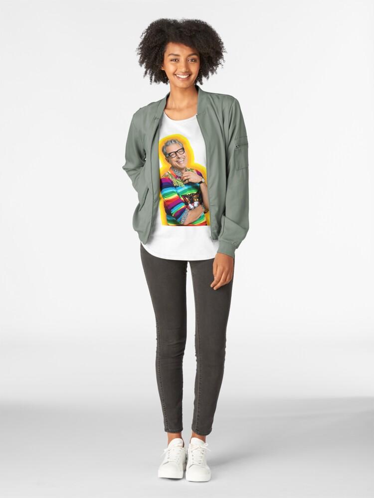 Vista alternativa de Camiseta premium para mujer Jeff Goldblum de la felicidad
