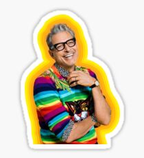 Pegatina Jeff Goldblum de la felicidad