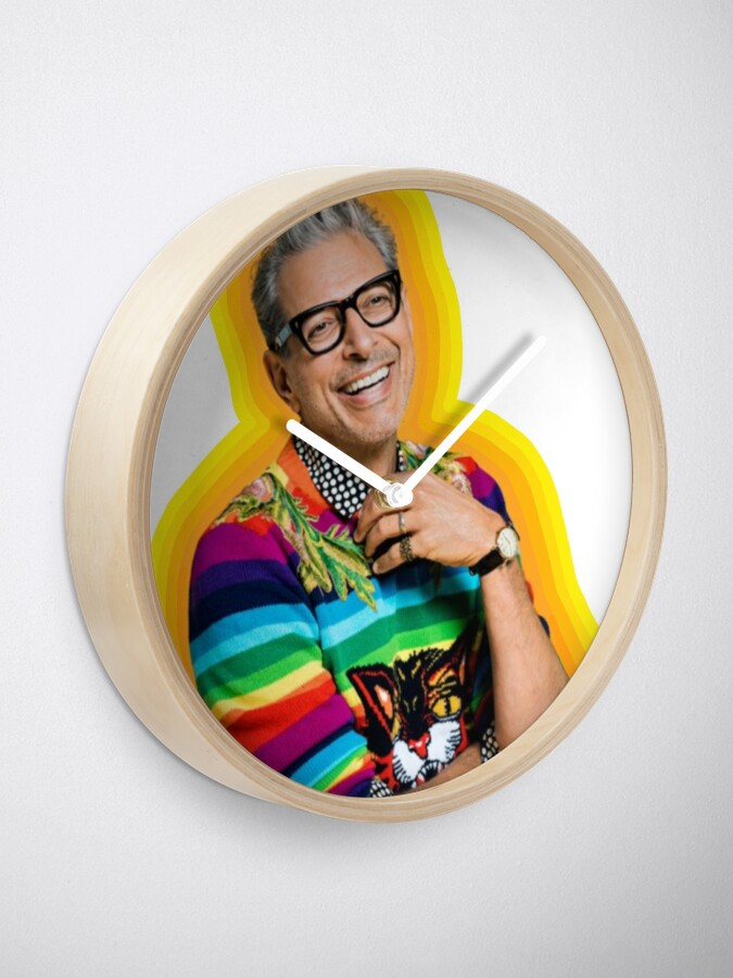 Alternate view of Jeff Goldblum of Happiness Clock