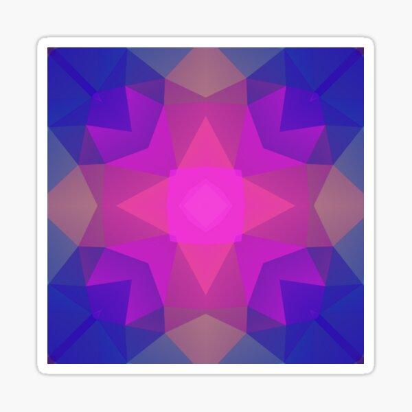 magentarisches nahtloses buntes Wiederholungsmuster des geometrischen Polygons Sticker