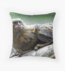 Pygmy Marmoset Throw Pillow