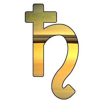 Saturn Astrological Symbol by bigbadbear