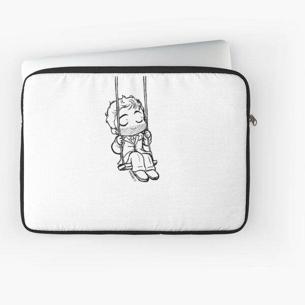 Relaxed Chibi King on a Swing Laptop Sleeve