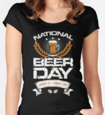 National Beer Day Jan 1 - Dec 31 Women's Fitted Scoop T-Shirt