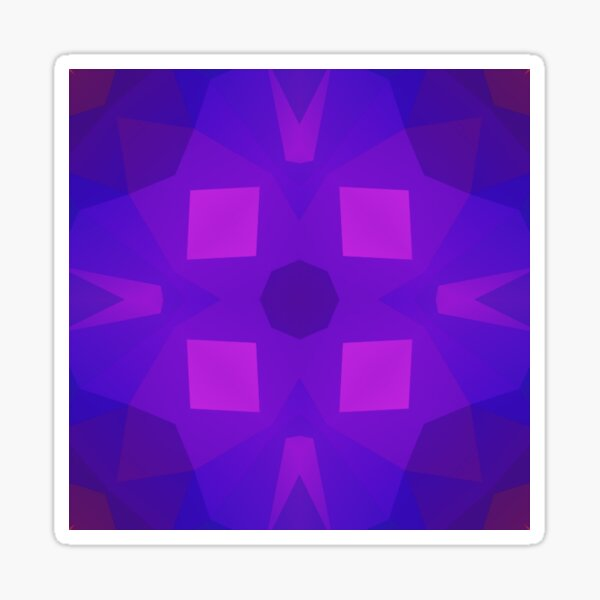 violettes geometrisches nahtloses buntes Wiederholungsmuster der Beschaffenheit Sticker