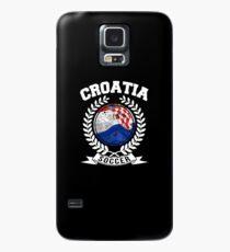 Kroatien-Fußball-Hemd Kroatisches Fußball-Jersey Kroatien-Fußball-Spieler-Weltfußball-Meister Hülle & Klebefolie für Samsung Galaxy