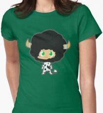 Lambo 10th vongola lighting guardian Women's Fitted T-Shirt