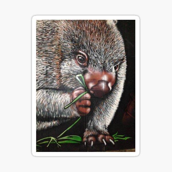 Wombat munchies Sticker