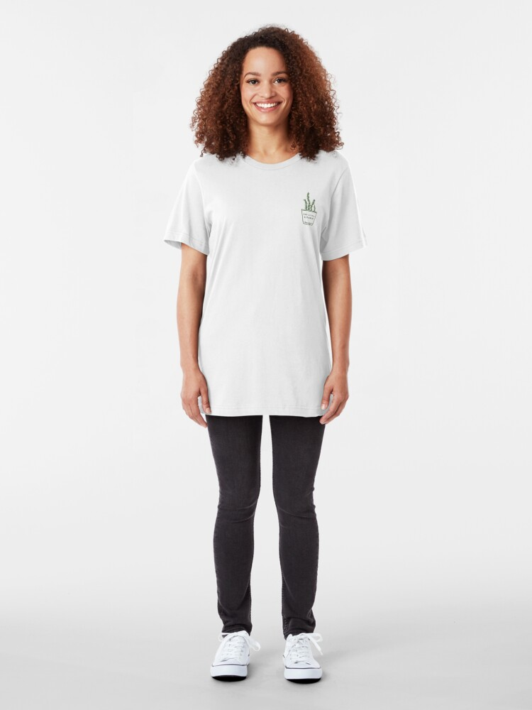 Alternate view of The Little Kitchen: Olive Logo Slim Fit T-Shirt