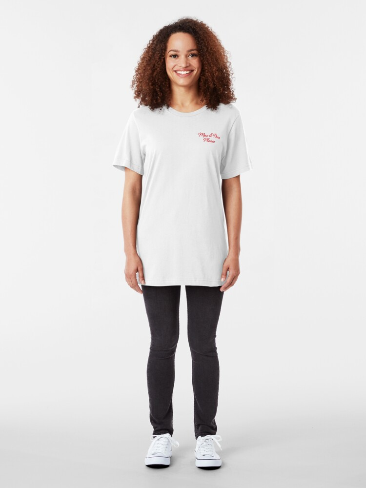 Alternate view of The Little Kitchen: Mac & Peas Please Slim Fit T-Shirt