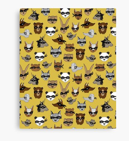 Bandit Animals by Andrea Lauren  Canvas Print