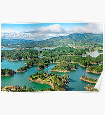 Guatape Lakes3 Columbia Poster
