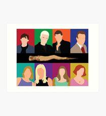 Buffy Characters Art Print