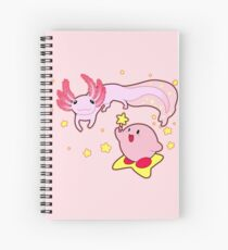 Kirby and the Axolotl Spiral Notebook