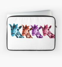 Giraffe Funny Color Heads Shirt Laptop Sleeve
