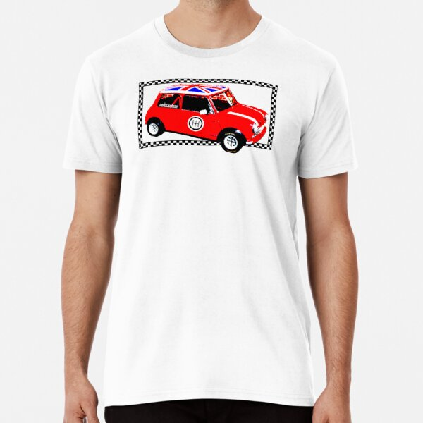 Shift Shirts Small Packages – Morris Mini Cooper Inspired Premium T-Shirt