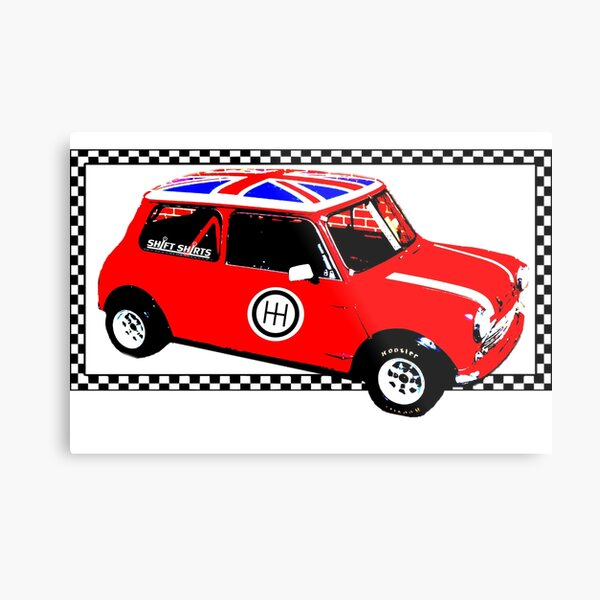 Shift Shirts Small Packages – Morris Mini Cooper Inspired Metal Print