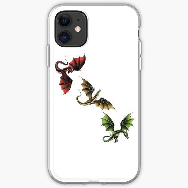 Three Dragons in Flight iPhone Soft Case