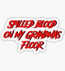 "Ghostemane 'Spilled Blood on my Grandma's Floor""  Sticker"