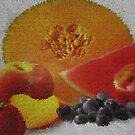 Fruit !! Oh It Looks Like A Rug by Linda Miller Gesualdo
