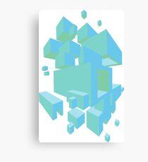 mint pixels Canvas Print