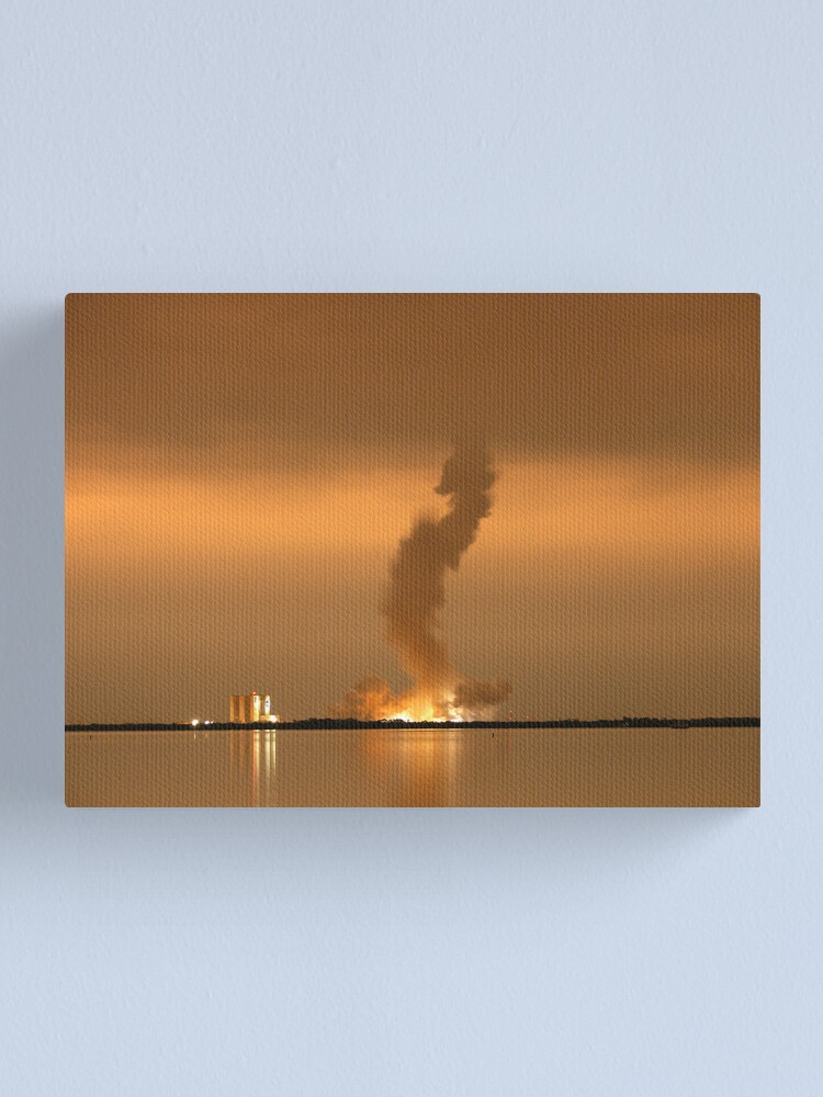 Alternate view of Night Launch Canvas Print