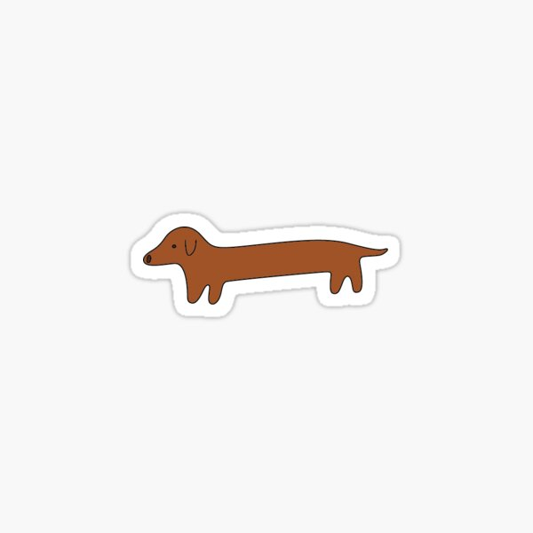Dackel Weenie Sticker