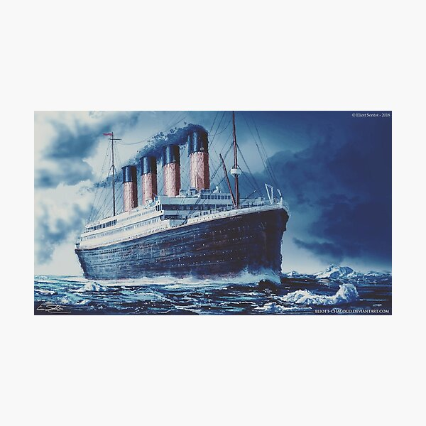 Icefield | Titanic Painting | Art by Eliott Cha'coco Photographic Print